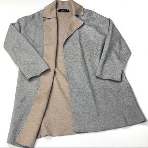 Zara Knits Open Cardigan gray size medium